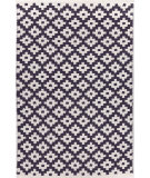 RugStudio presents Dash And Albert Samode 92388 Navy/Ivory Flat-Woven Area Rug