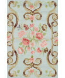 RugStudio presents Dash and Albert Siena Mist Hand-Hooked Area Rug