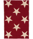 RugStudio presents Dash And Albert Star Rdb343 Red - Ivory Flat-Woven Area Rug