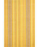 RugStudio presents Dash and Albert Sunflower Ticking Flat-Woven Area Rug