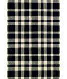 RugStudio presents Dash and Albert Tattersall 56278 Black/Ecru Flat-Woven Area Rug