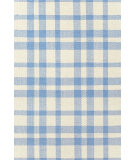 RugStudio presents Dash and Albert Tattersall 56279 Blue/Cream Flat-Woven Area Rug
