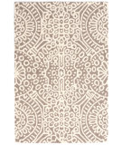 RugStudio presents Dash And Albert Temple Geometric Taupe Hand-Hooked Area Rug