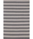 RugStudio presents Dash And Albert Trimaran Stripe 105567 Graphite/Fieldstone Flat-Woven Area Rug