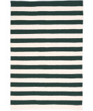 RugStudio presents Dash And Albert Trimaran Stripe Ivory Pine Flat-Woven Area Rug