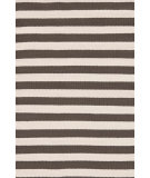 RugStudio presents Dash And Albert Trimaran Stripe Brown/Ivory Woven Area Rug