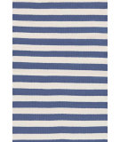 RugStudio presents Dash And Albert Trimaran Stripe Denim/Ivory Woven Area Rug