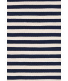 RugStudio presents Dash And Albert Trimaran Stripe Navy/Ivory Woven Area Rug