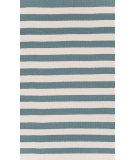 RugStudio presents Dash And Albert Trimaran Stripe Slate/Ivory Woven Area Rug