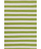 RugStudio presents Dash And Albert Trimaran Stripe Sprout/Ivory Woven Area Rug