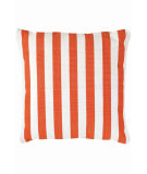 RugStudio presents Dash And Albert Trimaran Stripe Fresh American Pillow Tangerine/White Flat-Woven