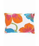 RugStudio presents Dash And Albert Trumpet Fresh American Pillow Turquoise/Tangerine