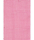 RugStudio presents Dash And Albert Two Tone Rope Fuschia/White Flat-Woven Area Rug
