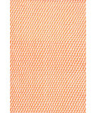 RugStudio presents Dash And Albert Two Tone Rope 72682 Tangerine/White Flat-Woven Area Rug