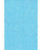 RugStudio presents Dash And Albert Two Tone Rope Turquoise/White Flat-Woven Area Rug