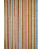 RugStudio presents Dash and Albert Zanzibar Ticking Flat-Woven Area Rug