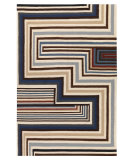 RugStudio presents Designers Guild Christian Lacroix Abstract Malachite Cobalt Woven Area Rug