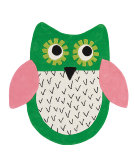 RugStudio presents Designers Guild Children Little Owl Emerald Hand-Tufted, Good Quality Area Rug