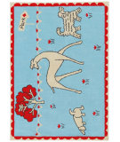 RugStudio presents Designers Guild Children Pooch In The Park Aqua Area Rug