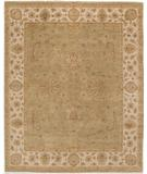 RugStudio presents Due Process Amritsar Agra Light Green-Ivory Hand-Knotted, Best Quality Area Rug