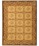 RugStudio presents Due Process Aubusson Avignon Gold-Dark Brown Flat-Woven Area Rug