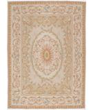 RugStudio presents Due Process Aubusson Caen Light Green Flat-Woven Area Rug