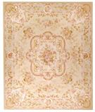 RugStudio presents Due Process Aubusson Laval Gold-Ivory Flat-Woven Area Rug