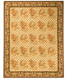 RugStudio presents Due Process Aubusson Lyon Ivory-Charcoal Flat-Woven Area Rug