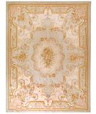 RugStudio presents Due Process Aubusson Nantes Powder Blue Flat-Woven Area Rug
