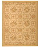 RugStudio presents Due Process Aubusson Reims Ivory-Gold Flat-Woven Area Rug