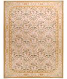 RugStudio presents Due Process Aubusson Savoie Cream Flat-Woven Area Rug