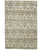 RugStudio presents Due Process Empress Arts & Crafts Light Blue Hand-Knotted, Best Quality Area Rug