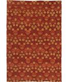 RugStudio presents Due Process Empress Arts & Crafts Red Hand-Knotted, Best Quality Area Rug