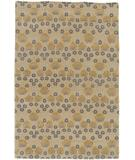 RugStudio presents Due Process Empress Arts & Crafts Wheat Hand-Knotted, Best Quality Area Rug