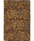 RugStudio presents Due Process Empress Leaves Brown Hand-Knotted, Best Quality Area Rug