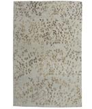 RugStudio presents Due Process Empress Leaves Seafoam Hand-Knotted, Best Quality Area Rug