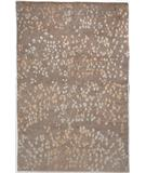 RugStudio presents Due Process Empress Leaves Taupe Hand-Knotted, Best Quality Area Rug
