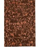 RugStudio presents Due Process Empress Spring Brown-Rose Hand-Knotted, Best Quality Area Rug