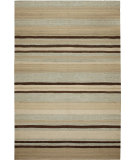 RugStudio presents Due Process Flatweave Flatline Sky/Tan Hand-Knotted, Good Quality Area Rug