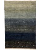 RugStudio presents Due Process Gabbeh Radiance Black Hand-Knotted, Best Quality Area Rug