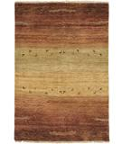 RugStudio presents Due Process Gabbeh Gradation Rust Hand-Knotted, Best Quality Area Rug