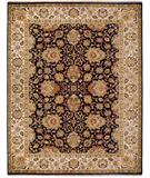 RugStudio presents Rugstudio Sample Sale 28419R Charcoal-Cream Hand-Knotted, Best Quality Area Rug