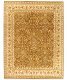 RugStudio presents Rugstudio Sample Sale 28425R Olive-Ivory Hand-Knotted, Best Quality Area Rug
