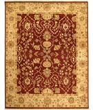 RugStudio presents Due Process Jagapatti Lilihan Garnet-Soft Gold Hand-Knotted, Best Quality Area Rug