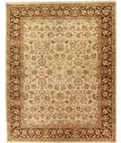 RugStudio presents Due Process Jagapatti Mahal Cream-Mocha Hand-Knotted, Best Quality Area Rug