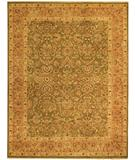 RugStudio presents Due Process Jagapatti Mahal Sage-Pink Hand-Knotted, Best Quality Area Rug