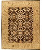 RugStudio presents Due Process Jagapatti Meshed Black-Sage Hand-Knotted, Best Quality Area Rug