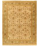 RugStudio presents Due Process Jagapatti Nain Ivory-Light Green Hand-Knotted, Best Quality Area Rug