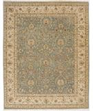 RugStudio presents Due Process Jagapatti Nain Light Blue-Ivory Hand-Knotted, Best Quality Area Rug