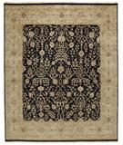RugStudio presents Due Process Jagapatti Sarouk Black-Gold Hand-Knotted, Best Quality Area Rug